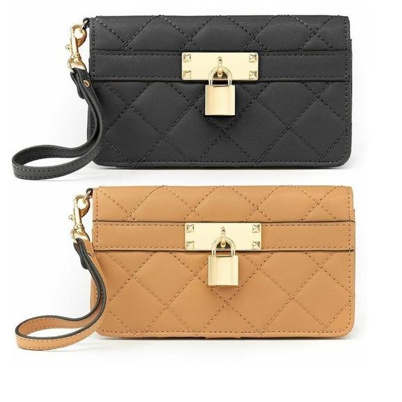 Apt 9 Handbags - Apt 9 Cora Quilted Wristlet Wallet Bag NEW